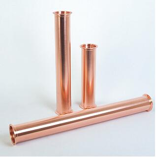Free Shipping Copper 2(51mm) OD64 Sanitary Tri Clover Spool Tube/Pipe, Length 12(300mm)Tri Clamp Pipe Thickness 2mm