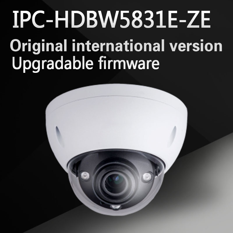 Free Shipping DAHUA Security IP Camera 8MP WDR IR Dome Network Camera with POE+ IP67 IK10 Without Logo IPC-HDBW5831E-ZE free shipping dahua ip camera cctv 6mp wdr ir eyeball network camera with poe ip67 without logo ipc hdw5631r ze