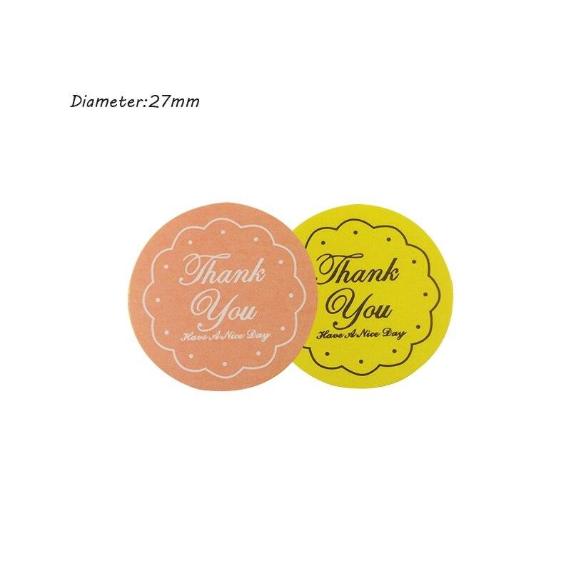 Купить с кэшбэком 240 Pcs/lot 'Thank You' Yellow&Pink Design Seal Label Sticker Food Gift Handmade Product Stickers Scrapbooking For Wedding Seals