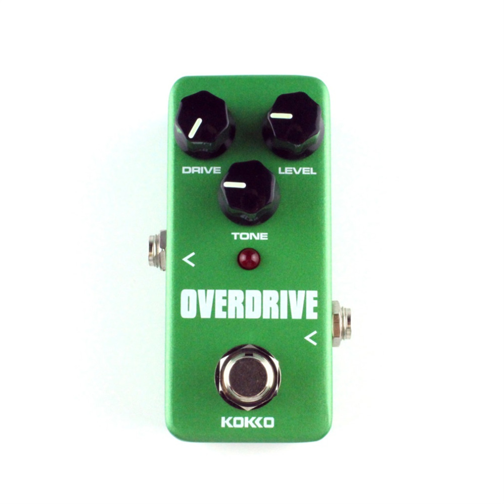 Mini KoKKo Vintage Overdrive Guitar Effect Pedal Guitarra Overdrive Booster High-Power Tube Overload Guitar Stompbox FOD3 kokko fbs2 mini guitar effect pedal guitarra booster high power tube electric guitar two segment eq effect device parts