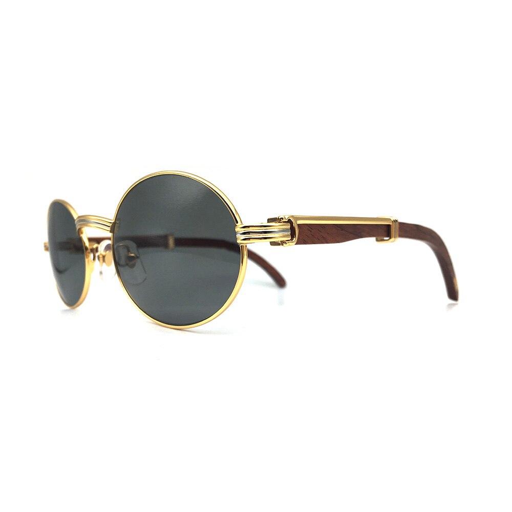 37f88ddd590 Wood sunglasses brand vintage carter sun glass men retro round sunglasses  frame carter glasses wooden sunglass parka men eyewear