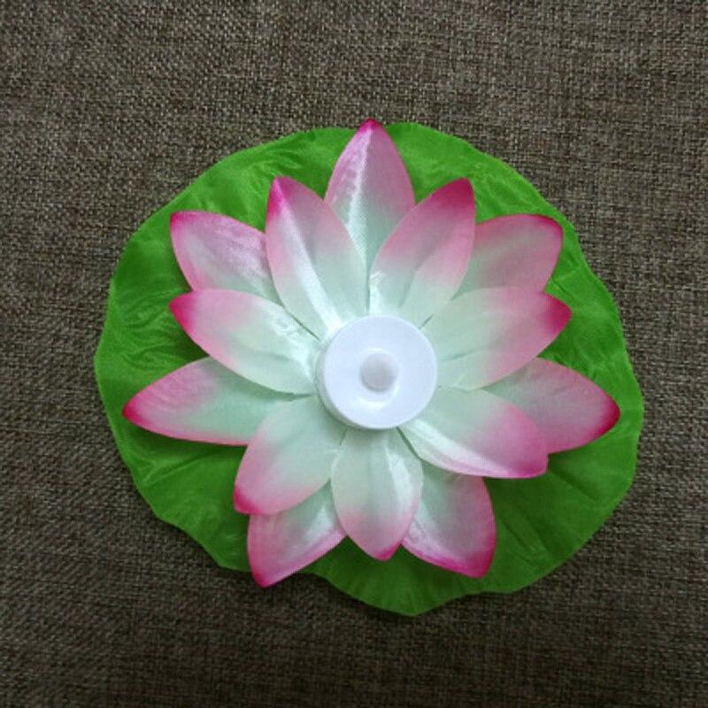 17cm LED Floating Lotus Flower Lamps On Water Swimming Pool Wishing Lantern