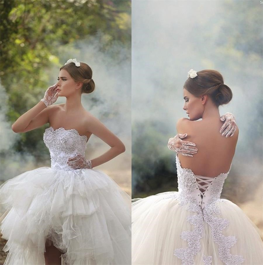 Low Back Bridal Bustier In Satin And Lace