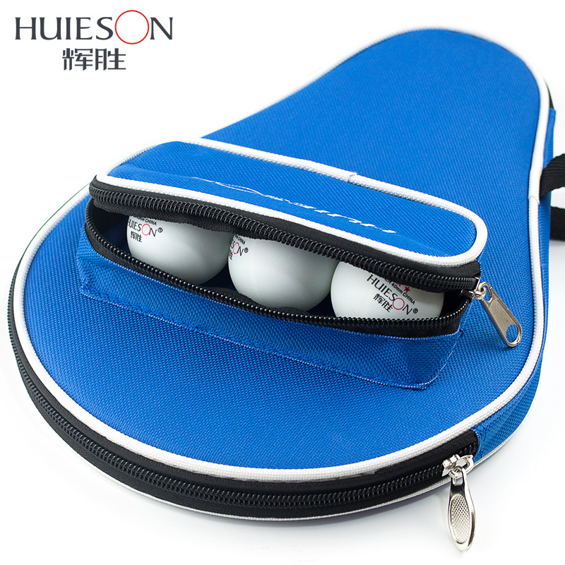 Huieson Professional Oxford Table Tennis Racket Case With Outer Zipper Bag For Table Tennis Balls Table Tennis Accessories
