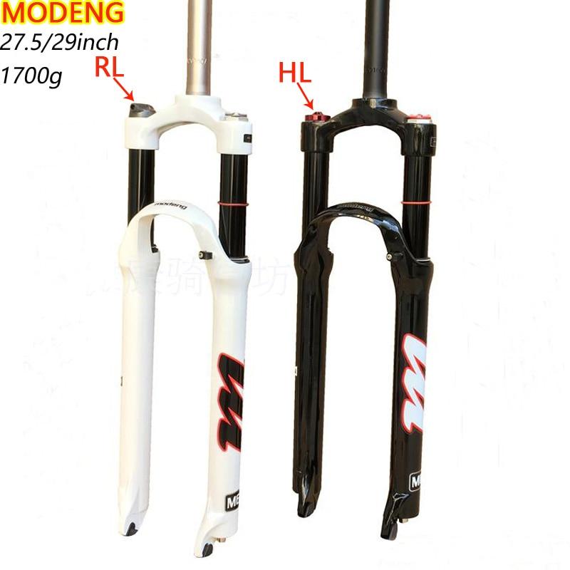 купить MODENG Mountain Bike 29inch Fork MTB Suspension Bicycle Plug Air impuct stroke 120mm 26 27.5 29inch fork недорого