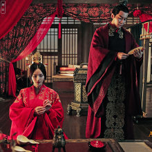 Свадебный костюм royal fa mi ly ханьфу Чжэнь ми и Цао Пи на