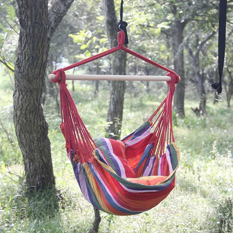 2018 Portable Leisure Canvas Hanging Chair Student Dormitory Swing Hammock  Indoor Outdoor Children Leisure Chair With 2 Pillows In Beach Chairs From  ...