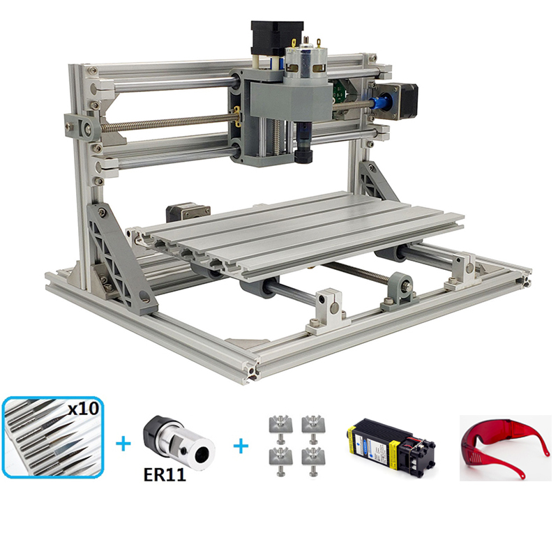 Mini 3018 Laser Engraving CNC Machine With 1GB TF Memory Card for Wood PCB PVC 9