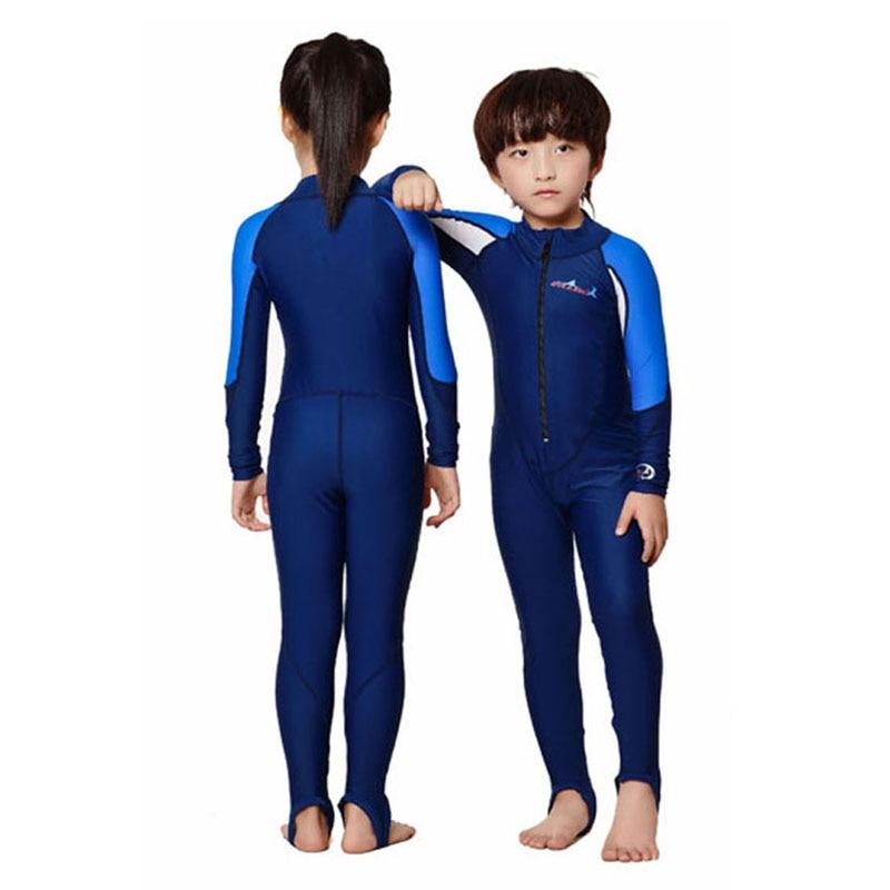 e9f60e61d9 DIVE&SAIL Girls Swimwear Kids Rash Suit Full Body Swimsuit Long Sleeve  Wetsuit Surf Swim Suit One Piece Swimming Suit For Boys