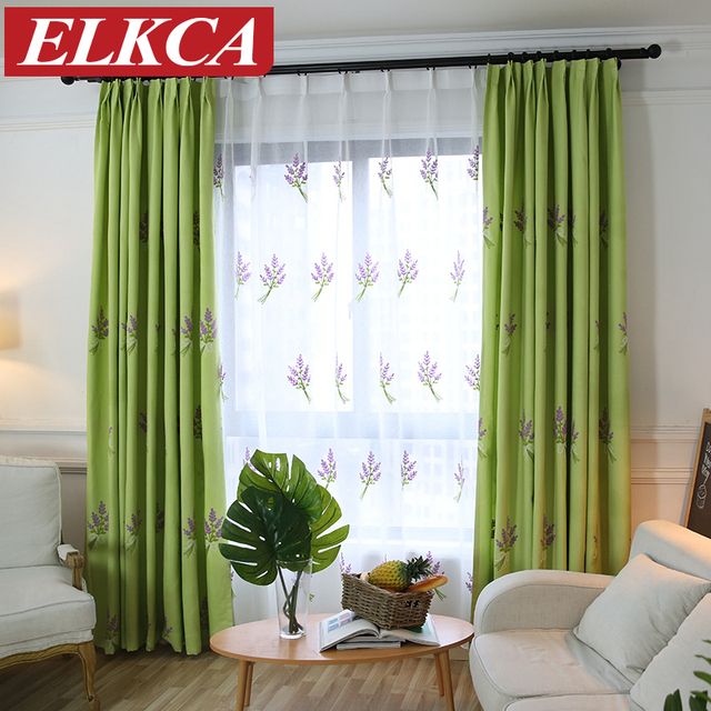 Thick Elegant Vanilla Embroidered Curtains for Living Room Curtains ...