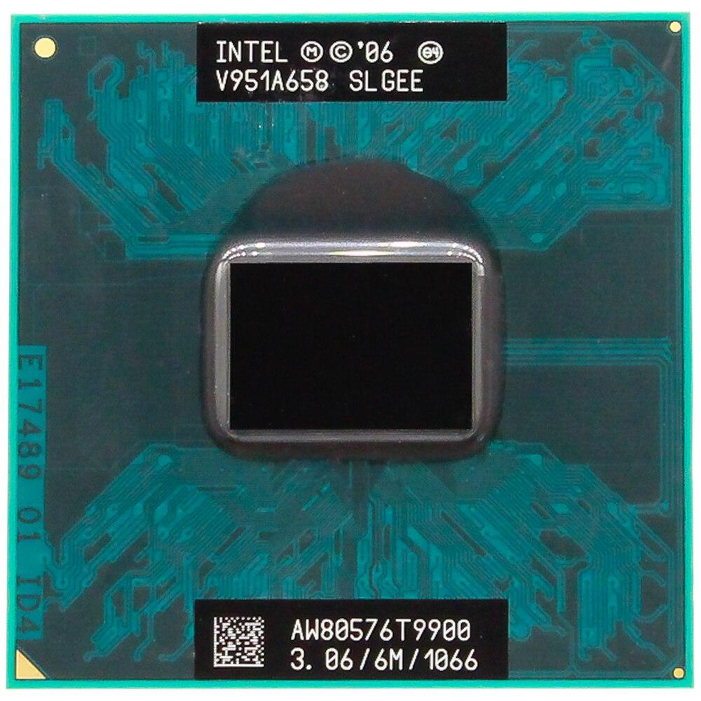 CPU ordinateur portable Core 2 Duo T9900 CPU 6M Cache/3.06 GHz/1066/double-Core Socket 478 PGA ordinateur portable processeur forGM45 PM45