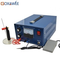 GOXAWEE 220V Spot Welder Electronic Sparkle Welder Jewelry Welding Tool Machine 90W 50A Spot Welding Machine Mini Sparkle Welder