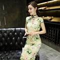 Traditional Retro Chinese Women's Cheongsam Mini Evening Dress Fashion Dress