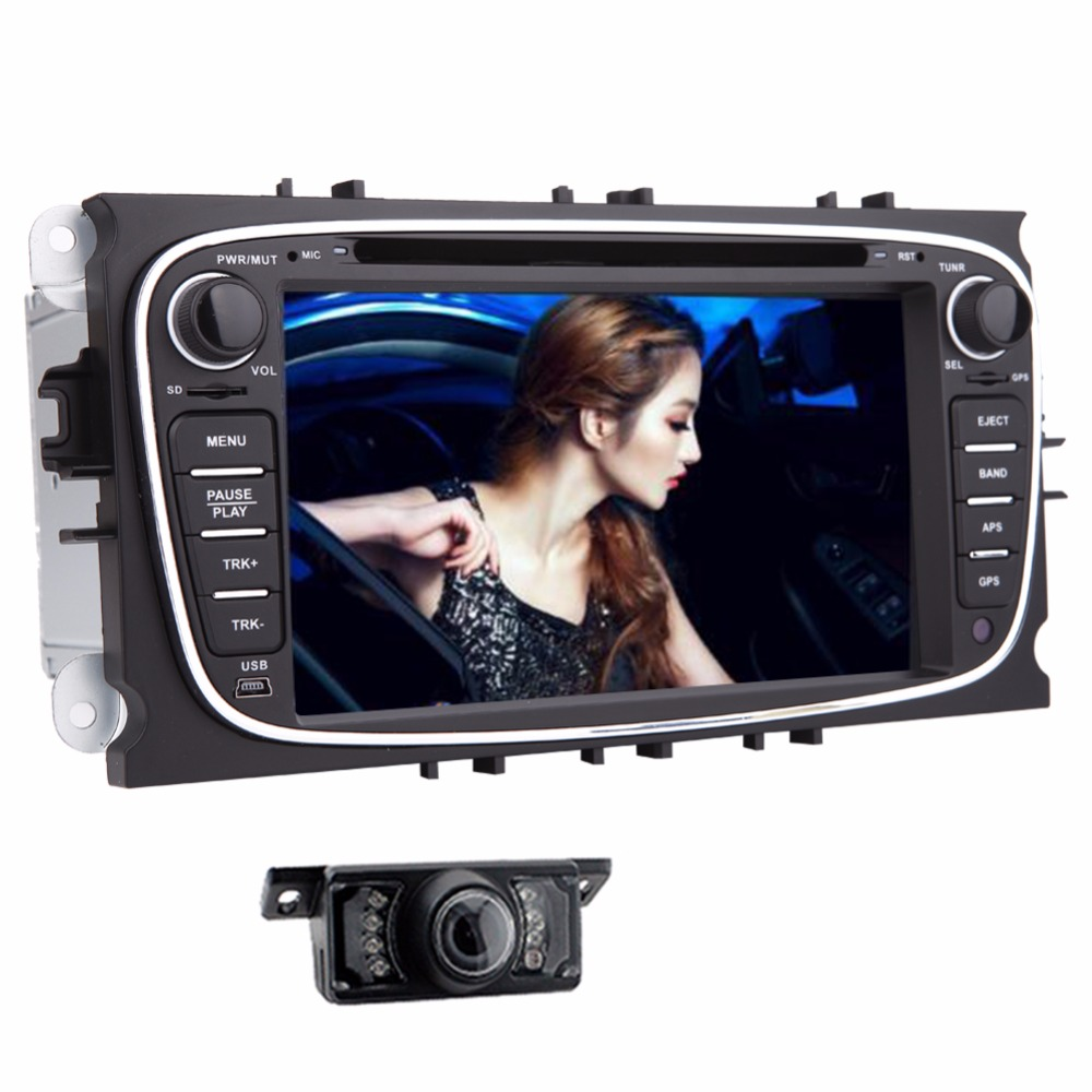 Android 2Din Car GPS Navigation DVD Player For Ford Focus Ford Mondeo 2014 2015 Car Audio Radio Stereo Headunit GPS Navigation