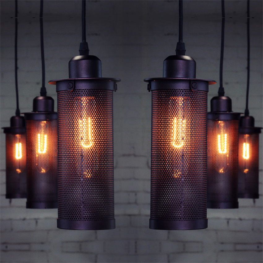 Vintage Light Iron Loft Pendant Lights Bedroom Dining Room Kitchen Pendant Lamps Suspension Hanging Lamps Lights Luminaria Avize