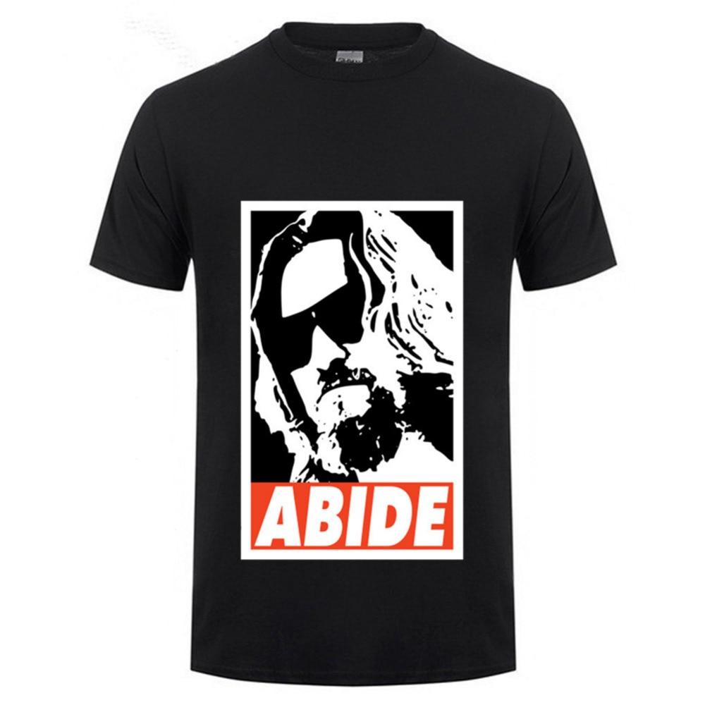Formal Shirts The Big Lebowski Abide poster Jeff Bridges