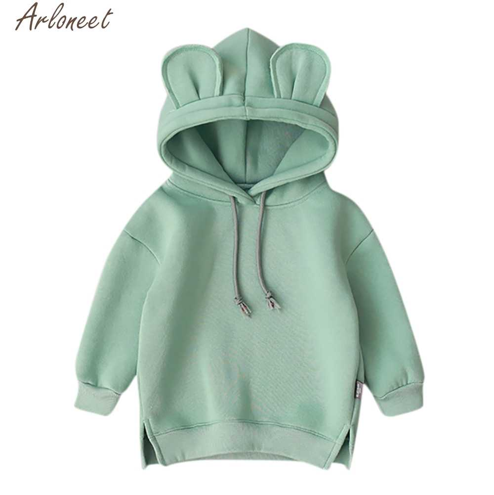 ARLONEET Toddler Baby Kids Boy Girl Cartoon 3D Ear Kids Hoodies Cute Baby Girl Sweatshirts x27s Sweatshirt For Boy