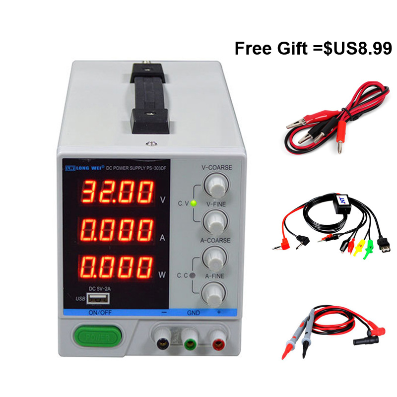 PS-303DF DC Regulated Power Supply LED Display Adjustable Switching Regulator 110V 220V DC Power Supply for Phone RepairPS-303DF DC Regulated Power Supply LED Display Adjustable Switching Regulator 110V 220V DC Power Supply for Phone Repair