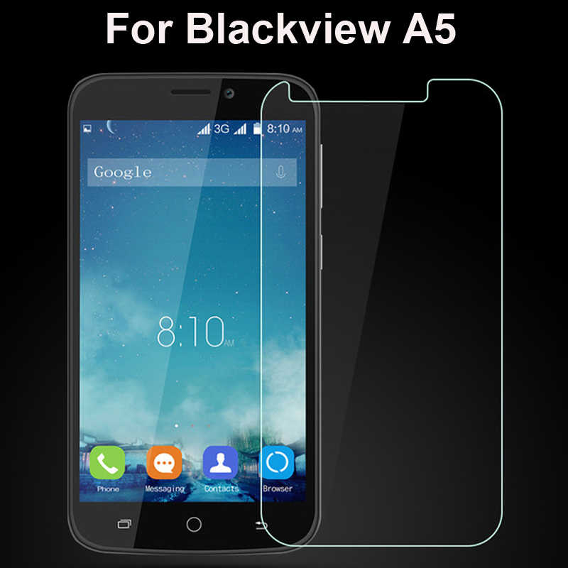Blackview A5 Tempered Kaca Film kaca film untuk Blackview Asli Ultra Tipis Screen Protector depan A5 Cellphone Gratis Pengiriman