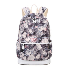 Winner marca única mochila impresión floral de las mujeres mochilas mochila de lona mochila para las niñas mochila informal