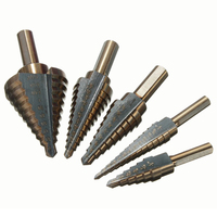 5 Pcs HSS cobalt multiple hole ladder drill bit set alu gold