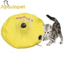 APAULAPET Cat's Meow-как видно по телевизору-под прикрытием моторизованная подвижная игрушечная Мышка для кошки