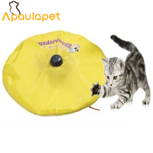 APAULAPET Cat's Meow – As Seen On TV – Undercover Motorized Moving Mouse Cat Toy