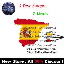 Стабильный Сервер HD 7 Клайн 1 год Европа Испания работает хорошо для Freesat v7 V7S GT медиа DVB-S2 HD спутниковый ресивер DVB-S2 HD