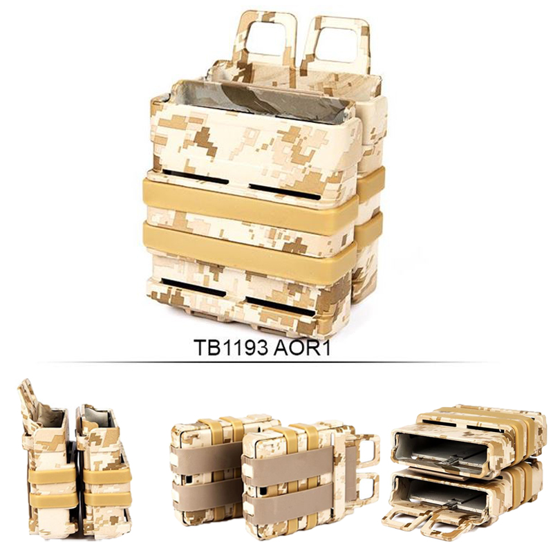 Double AK Magazine Pouch M4 (7.62) Heavy compatible High Quality Polymer Ammo Bag For Tactical Vest Molle AOR1 Free Shipping