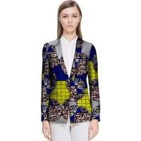 Chính thức mặc in phi blazers phụ nữ thời trang bình thường thiết kế dashiki quần áo nữ áo khoác casual của châu phi outwear