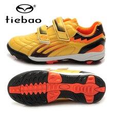 Подошвы TIEBAO Профессиональных Мальчиков Футбол Утки Обувь TF Turf Футбол Обувь Жесткий Суд Кроссовки Тренеры Бутсы