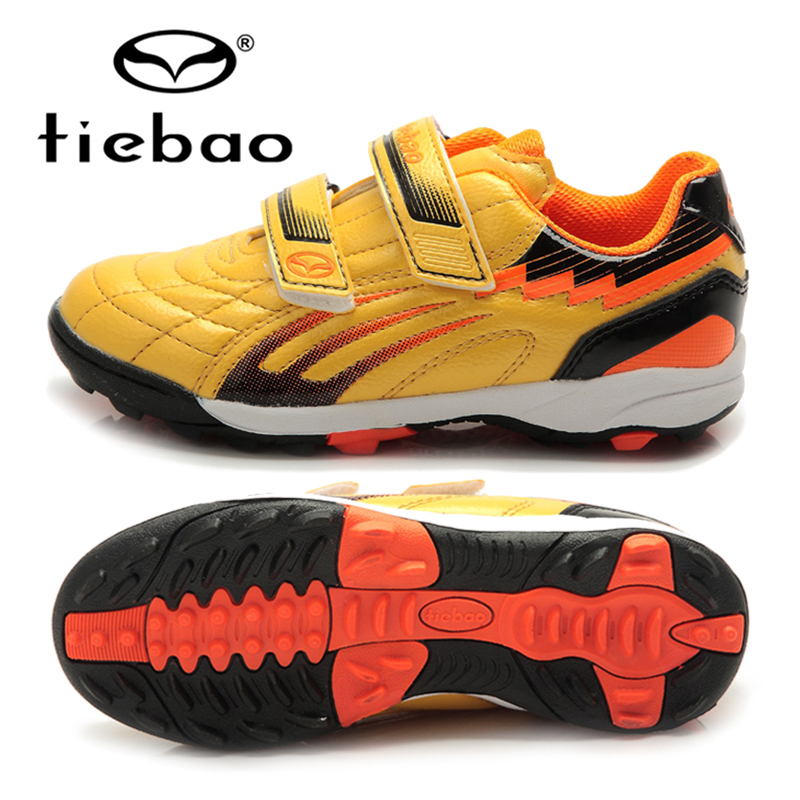 TIEBAO Professional Boys Soccer Cleats Shoes TF Turf Soles Football Soccer Shoes Hard Court Sneakers Trainers Football Boots tiebao soccer boots soccer turf shoes artificial turf for football botas de futbol brand sneakers 2017 soccer shoes ace