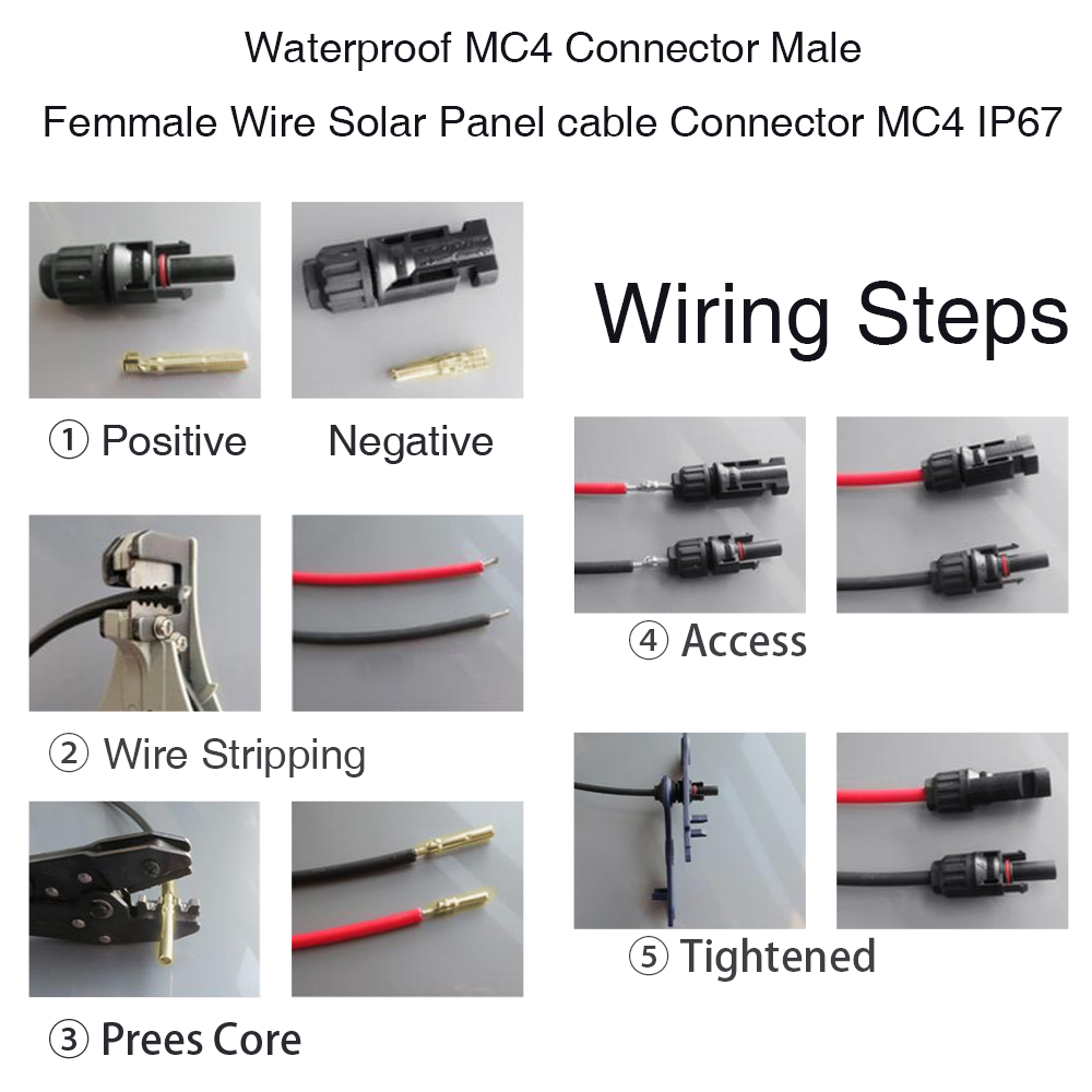 Easun Power 10pairs X Mc4 Connector Male Female Solar Panel Series Wiring Branch Connect For System In Connectors From Lights