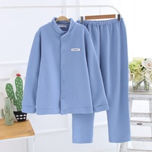 Winter Flannel Long Sleeves Pajamas for Men and Women