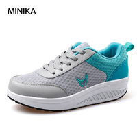 MiNiKa Women Sneakers Shoes Mesh Breathable Antiskid Shoes Fitness Travel Walking Jogging Shoes Running Shoes Zapatillas mujer