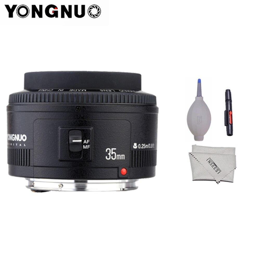 Yongnuo 35mm lentille YN35mm F2.0 lentille grand angle Fixe/Premier Objectif Autofocus Pour Canon 600d 60d 5DII 5D 500D 400D 650D 600D 450D