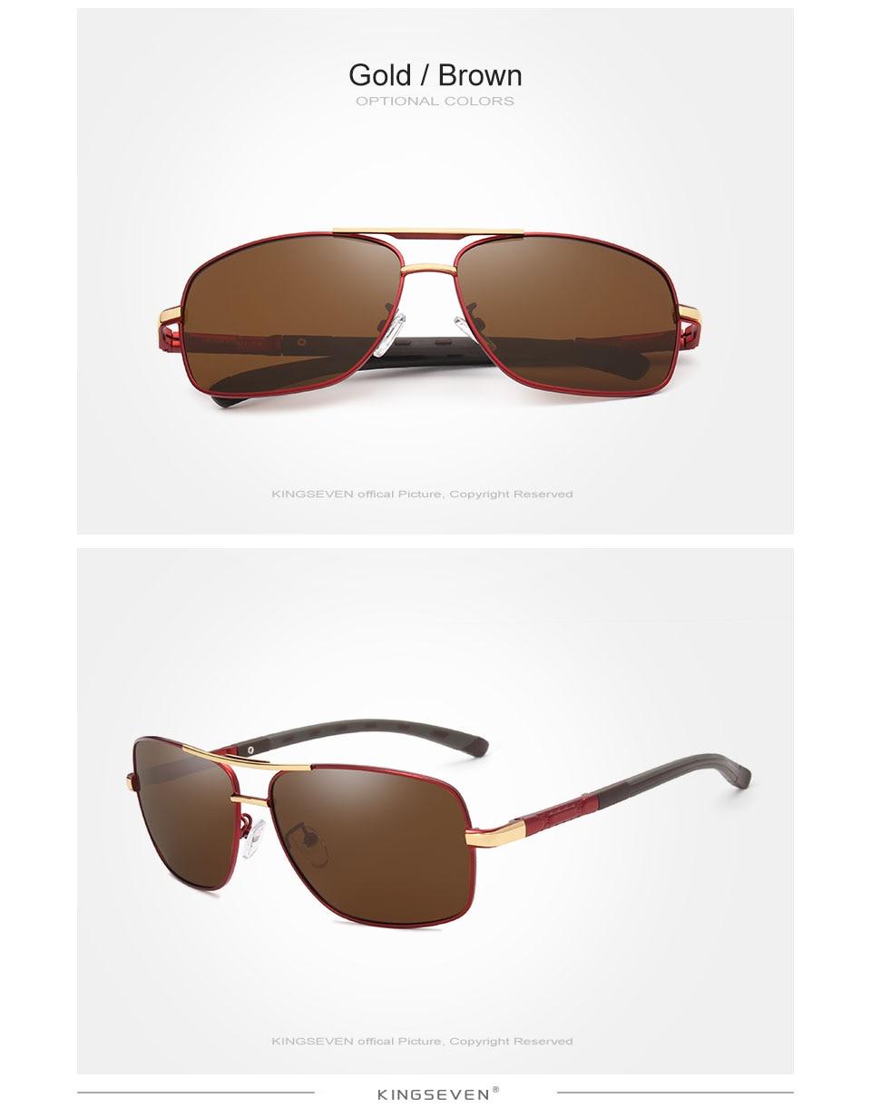 KINGSEVEN 2019 Brand Men Aluminum Sunglasses HD Polarized UV400 Mirror Male Sun Glasses Women For Men Oculos de sol N724