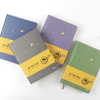 A5 New Arrival Vintage Little Prince Notebook Color Paper Hardcover Diary Book School Office Supplies Stationery Journal