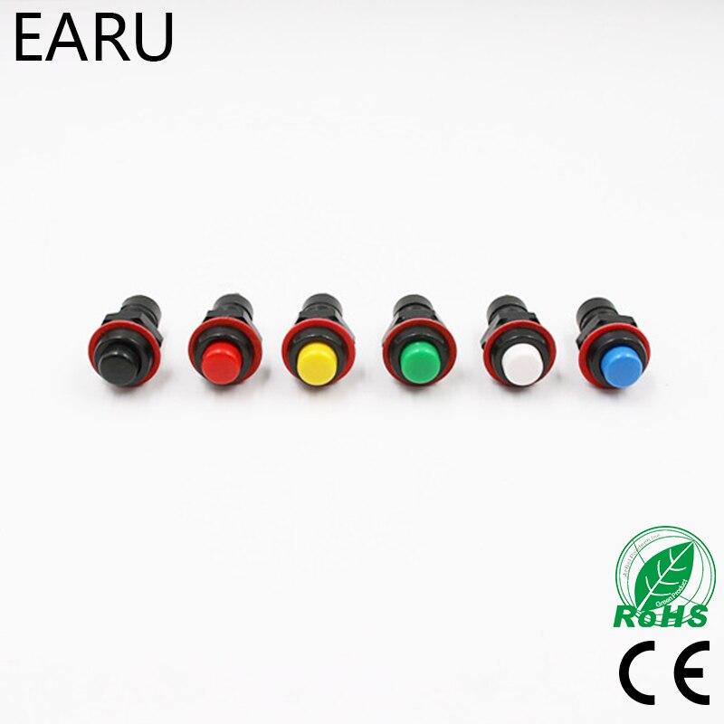 20pcs Red Green  Momentary Push Button Switch Horn 10mm Doorbell Car