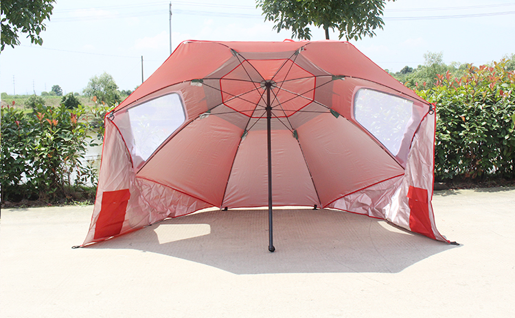 DANCHERL 2.4m Diameter Waterproof Umbrella Beach Fishing Tent  Sun and Rain shelter with 3 4 person for beach u0026 c&ing-in Sun Shelter from Sports ... & DANCHERL 2.4m Diameter Waterproof Umbrella Beach Fishing Tent ...