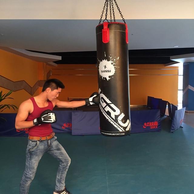 7b25ea8d2 Kick Boxing Saco vazio 130 cm Gancho de Suspensão de Fitness Formação  Punching Bag Saco De