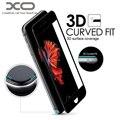"""Xo marca 3d ajuste curvado de vidrio templado 0.26mm mothca 3d borde redondo protector de pantalla de cine para 4.7 """"iphone 7 5.5"""" 7 plus"""