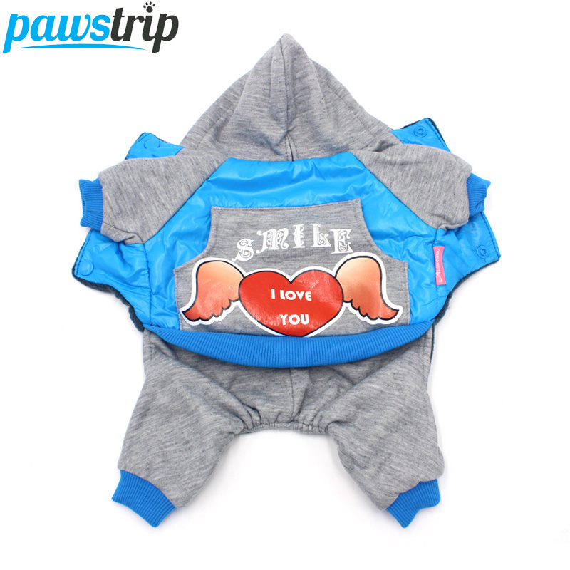 Mode Vinter Hundkläder Fleece Foder Varm Hund Jumpsuit Nylon Taffta Puppy Coat