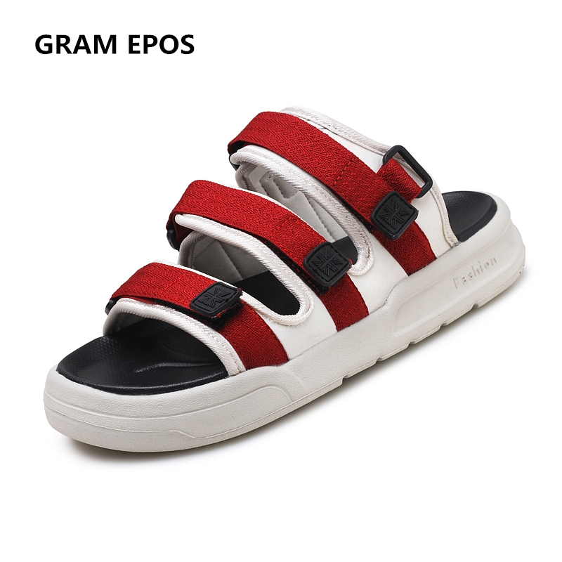 GRAM EPOS 2018 Summer Men Sandals flat Upstream Shoes Male green red Casual Beach Shoes Walking slides Gladiator Sandals
