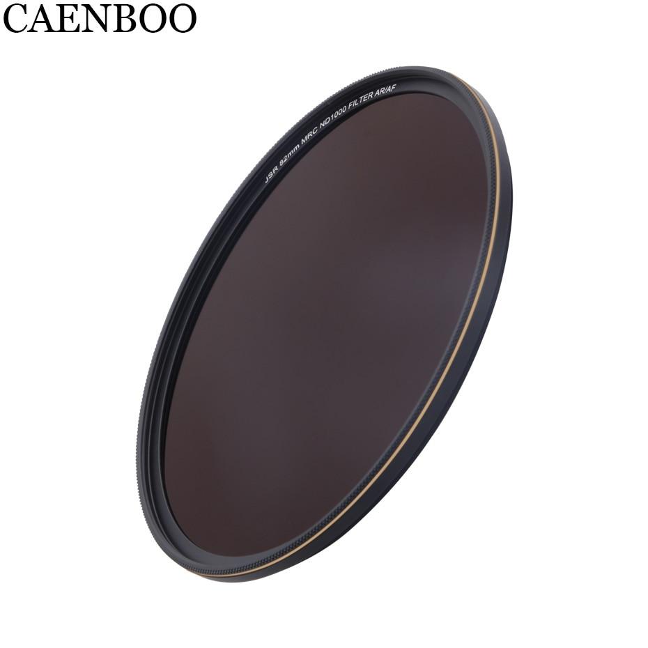 Filtro de Vidro Óptico da câmera ND1000 82 77 72 67mm mm mm mm de Densidade Neutra Para Canon EOS Nikon Sony filtro Da Lente Da Câmera Digital SLR