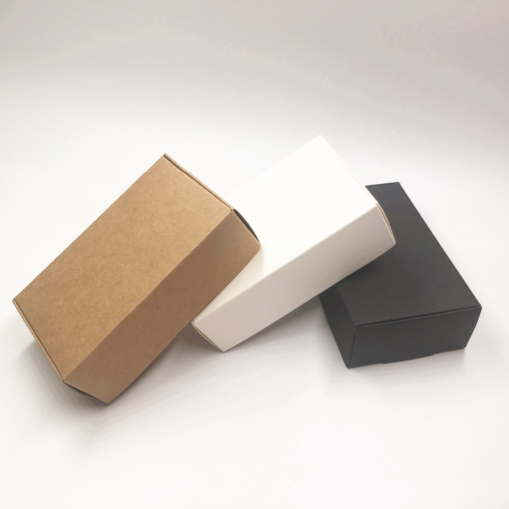 Black Gift Boxes Us 24 12 10 Off 50pcs Brown White Black Handmade Gift Boxes Love Handmade Candy Box Kraft Paper Packing Strong Box Handmade Nougat Chocolate In