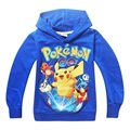 Boys Pokemon Clothes Cartoon Costume Hoodie Pokemon Go Clothes Children's Sweatshirts For Boy Pikachu Kids Outwear DC1023