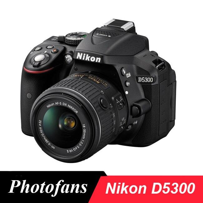 """Nikon D5300 DSLR Camera-24.2 MP-1080 P Video-3.2 """"ad Angolazione variabile LCD-WiFi-No Ottico Filtro Passa-Basso"""
