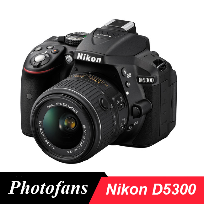 "Nikon D5300 DSLR Camera -24.2MP -1080P Video -3.2"" Vari-Angle LCD -WiFi -No Optical Low-Pass Filter"