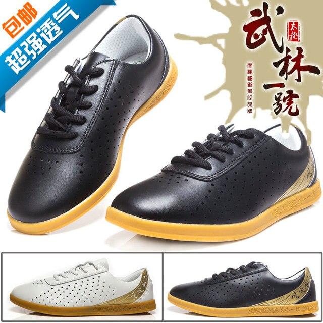 Лето дышащий Тай-Чи обувь Кунг-фу обувь Натуральная кожа мягкая подошва размер Примечание
